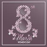 Tarjeta de felicitación del día del ` s de las mujeres Fotos de archivo
