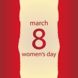 Tarjeta de felicitación del día del ` s de las mujeres Imagenes de archivo