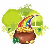 Tarjeta de felicitación del día del St. Patrick Fotografía de archivo libre de regalías