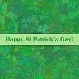 Tarjeta de felicitación del día del St Patrick ilustración del vector
