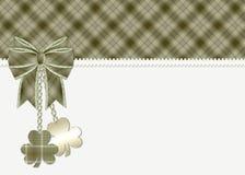Tarjeta de felicitación del día del St. Patrick Imágenes de archivo libres de regalías