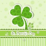 Tarjeta de felicitación del día del St. Patrick del modelo Fotografía de archivo