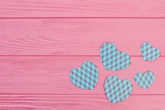 Tarjeta de felicitación del día de fiesta de las tarjetas del día de San Valentín Imagen de archivo libre de regalías