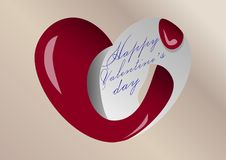 Tarjeta de felicitación del día del `s de la tarjeta del día de San Valentín libre illustration