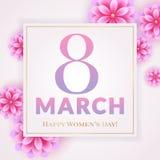 Tarjeta de felicitación del día del ` s de las mujeres Fotografía de archivo libre de regalías