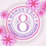 Tarjeta de felicitación del día del ` s de las mujeres Imagen de archivo