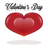 Tarjeta de felicitación del día de tarjeta del día de San Valentín en el fondo blanco con el espacio de la copia stock de ilustración