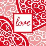 Tarjeta de felicitación del día de tarjeta del día de San Valentín del vintage con una inscripción stock de ilustración