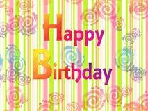 Tarjeta de felicitación del feliz cumpleaños Imagen de archivo