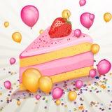 Tarjeta de felicitación del feliz cumpleaños stock de ilustración