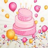 Tarjeta de felicitación del feliz cumpleaños libre illustration