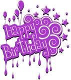 Tarjeta de felicitación del feliz cumpleaños Foto de archivo libre de regalías