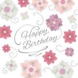 Tarjeta de felicitación del feliz cumpleaños Fotografía de archivo