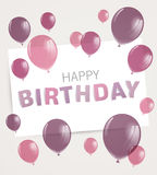 Tarjeta de felicitación del feliz cumpleaños Foto de archivo