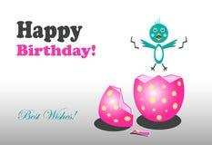 Tarjeta de felicitación del feliz cumpleaños Imagen de archivo libre de regalías
