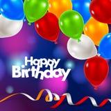 Tarjeta de felicitación del feliz cumpleaños ilustración del vector