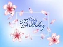 Tarjeta de felicitación del feliz cumpleaños Fotos de archivo