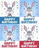 Conejo de conejito del feliz cumpleaños stock de ilustración