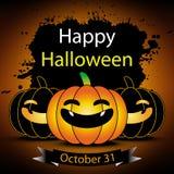 Tarjeta de felicitación del feliz Halloween Fotos de archivo