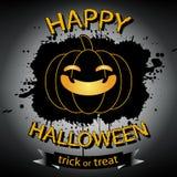 Tarjeta de felicitación del feliz Halloween Fotografía de archivo libre de regalías