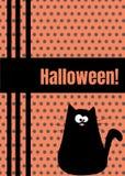 Tarjeta de felicitación del feliz Halloween con la ejecución en la línea insecto de la rociada del Web spider Personaje de dibujo Imágenes de archivo libres de regalías
