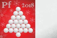 Tarjeta de felicitación del golf hecha del papel Fotografía de archivo libre de regalías