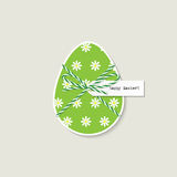 Tarjeta de felicitación del huevo de Pascua ilustración del vector
