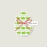 Tarjeta de felicitación del huevo de Pascua stock de ilustración