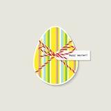 Tarjeta de felicitación del huevo de Pascua imagen de archivo