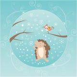 Tarjeta de felicitación del invierno Foto de archivo libre de regalías