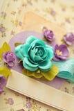 Tarjeta de felicitación del libro de recuerdos Imagen de archivo libre de regalías