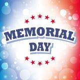 Tarjeta de felicitación del Memorial Day Fotografía de archivo libre de regalías