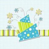 Tarjeta de felicitación del modelo Fotografía de archivo libre de regalías