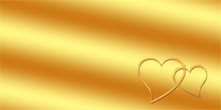 Tarjeta de felicitación del oro Fotos de archivo