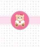 Tarjeta de felicitación del oso del peluche Imagen de archivo