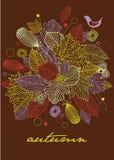 Tarjeta de felicitación del otoño Imagenes de archivo