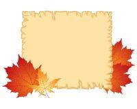 Tarjeta de felicitación del otoño Fotografía de archivo libre de regalías