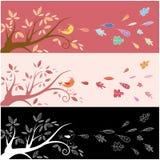 Tarjeta de felicitación del otoño Imagen de archivo libre de regalías