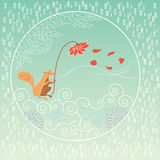 Tarjeta de felicitación del otoño Imágenes de archivo libres de regalías
