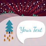 Tarjeta de felicitación del paisaje del invierno de la Navidad ilustración del vector