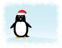 Tarjeta de felicitación del pingüino del vector ilustración del vector