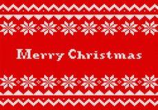 Tarjeta de felicitación del punto de la Navidad roja y blanca libre illustration
