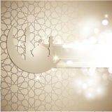 Tarjeta de felicitación del Ramadán Imagen de archivo