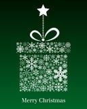 Tarjeta de felicitación del regalo de la Navidad Imágenes de archivo libres de regalías