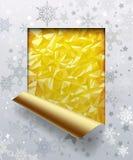 Tarjeta de felicitación del ` s de la Navidad y del Nuevo-año con el fondo de la hoja de oro stock de ilustración