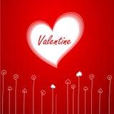 Tarjeta de felicitación del `s de la tarjeta del día de San Valentín Fotos de archivo
