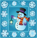 Tarjeta de felicitación del thematics de la Navidad 5 ilustración del vector