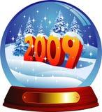Tarjeta de felicitación del vector 2009. Fotografía de archivo libre de regalías