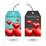 Tarjeta de felicitación del vector con los corazones 3d Día de la tarjeta del día de San Valentín s Amor y romance libre illustration