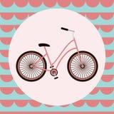 Tarjeta de felicitación del vector de la bicicleta Imagen de archivo libre de regalías